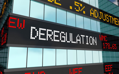 Deregulation Stock Market Rules Laws Trading Ticker 3d Illustration