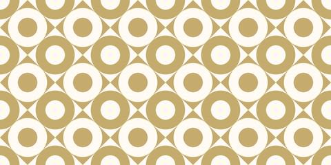 Motif de fond conception transparente couleur or rond et carré abstrait vecteur.