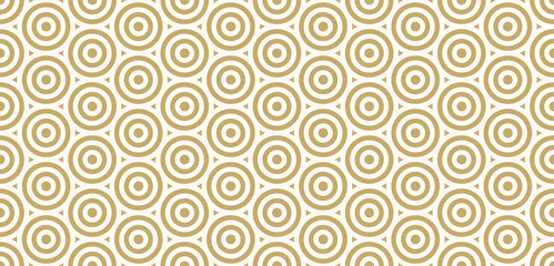 Background pattern seamless design gold color round and triangle abstract vector.