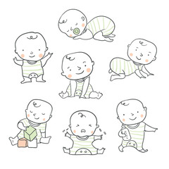 Cute baby vector illustration for baby shower