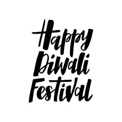 Diwali hand drawn lettering typography