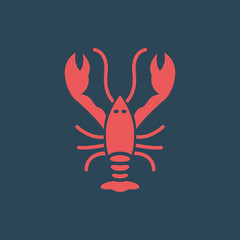 Silhouette icon crayfish