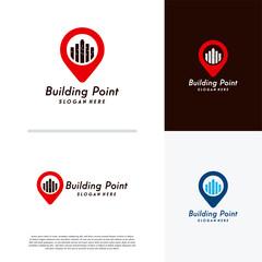 Building Point logo designs concept vector, House Point logo template