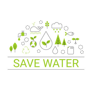 Save water concept