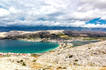 Landscape of Town of Pag, Croatia
