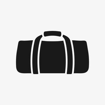 Gym bag vector icon