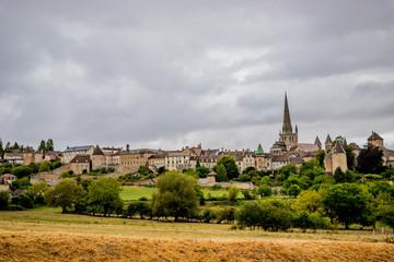 Vue sur la ville d'Autun