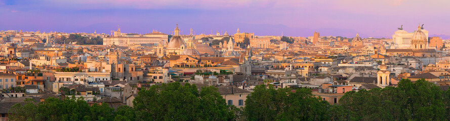 Panorama of Rome at twilight
