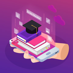 E-learning Isometric Composition