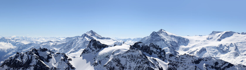 Photo sur Plexiglas Alpes Alps Mountain panorama on the Titlis, Switzerland