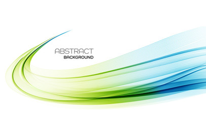 Abstract colorful vector background, color wave for design brochure, website, flyer. Wall mural