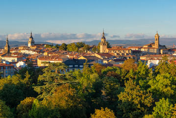 Downtown of Vitoria-Gasteiz at sunset, Basque Country, Spain