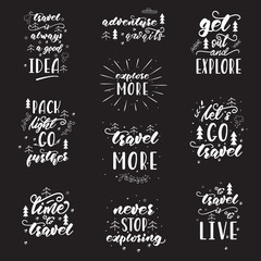 Garden Poster Positive Typography Lettering design with travel phrases. Vector illustration