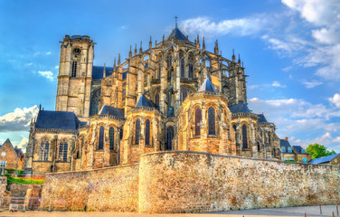 Saint Julien Cathedral of Le Mans in France Wall mural