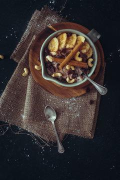 Nuts and Banana Pudding