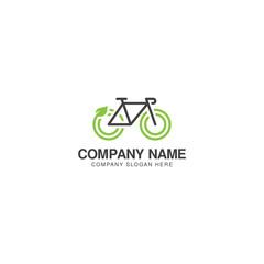 Eco bike logo design vector template
