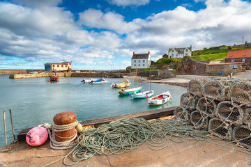 Wall Mural - St Abbs Harbour in Scotland