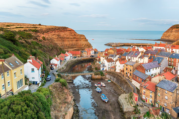 Wall Mural - Staithes in North Yorkshire