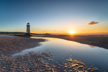 Wall Mural - Point of Ayr Lighthouse at Talacre in Wales