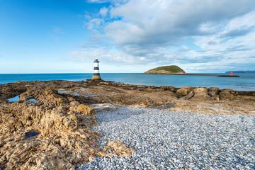 Fototapete - Trwyn Du Lighthouse on Anglesey