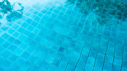 Blue tile in the swimming pool background