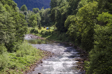 river in the Carpathians