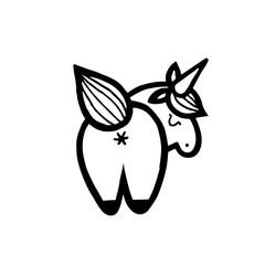 Unicorns. Vector illustration isolated on white background.