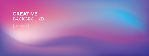 Abstract modern colorful blend purplish pink creative dynamic banner background