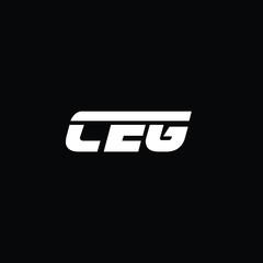 Obraz Minimal Letters CEG Logo Design - fototapety do salonu