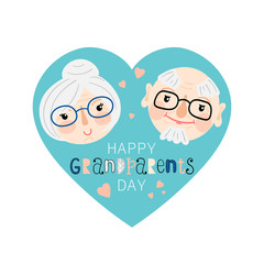 Happy grandparents day illustration