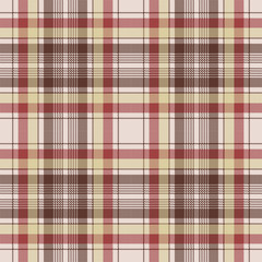 Brown plaid pixel fabric texture seamless pattern
