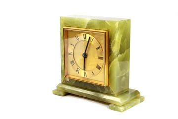 Vintage Antique Clock Watch Timepiece On White background
