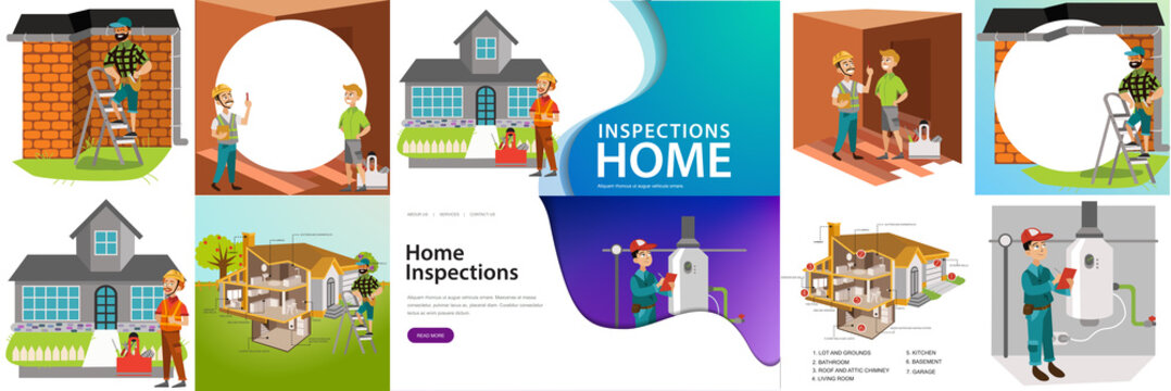 Home inspection rendered services