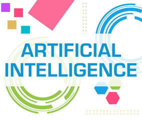 Artificial Intelligence Colorful Technology Background Text