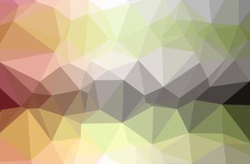 Illustration of beautiful orange low poly background.
