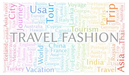 Travel Fashion word cloud.