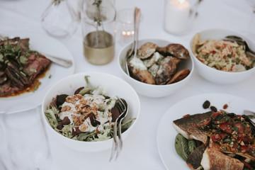 Essen auf einer Hochzeit