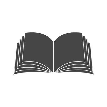 Vector sign open book icon