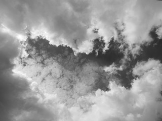 abstract background from fluffy clouds in the sky