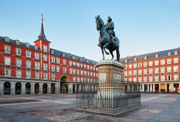 Fototapeten Zentral-Europa Madrid Plaza Mayor