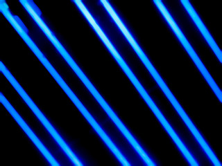 Blue neon tubes in dark