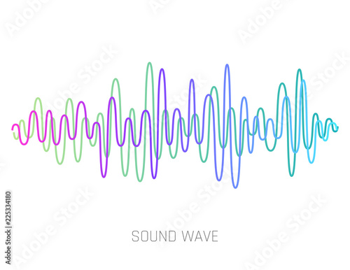 Vector Sound Wave  Colorful sound waves for party, DJ, pub
