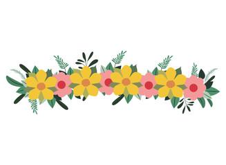 beautiful flower decoration isolated icon