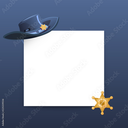 527b8a02d8b Western style greeting card vector template with blank paper sheet ...