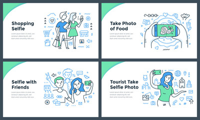 Taking Photos with Smartphone Doodle Concepts
