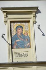 Matka Boża  Mysłowicka  na frontonie kamienicy
