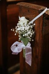 flower decoration on a wedding