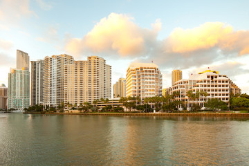 Brickell Key, Miami, Florida, USA