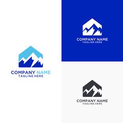 Peak mortgage logo design