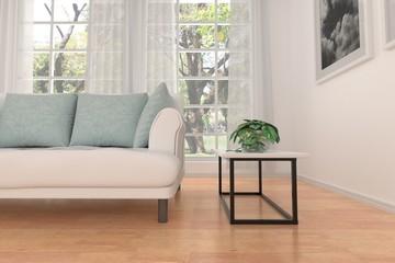 living room design interior 3d rendering
